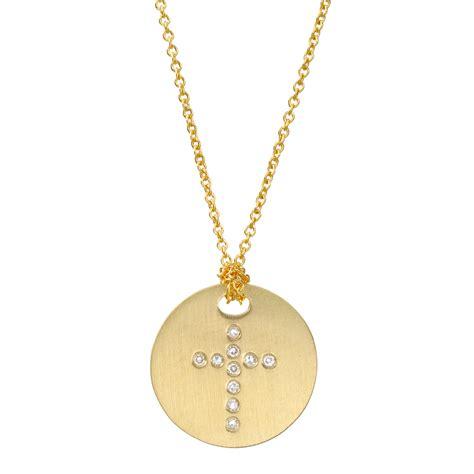 cross charm new 848 cross disc pendant