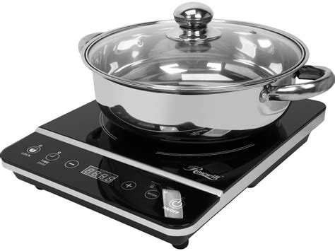 Can Stainless Steel Be Used On Induction Cooktop rosewill 1800 watt portable induction cooker cooktop with stainless steel pot ebay