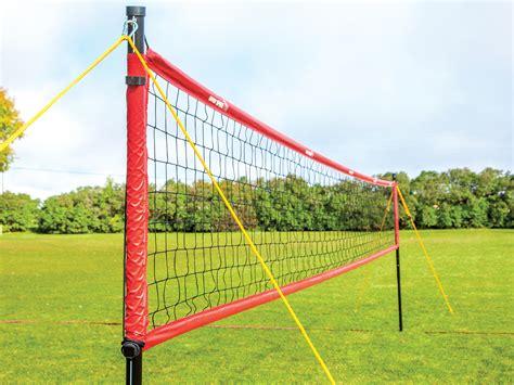 backyard net systems spikepro outdoor volleyball net system gopher sport