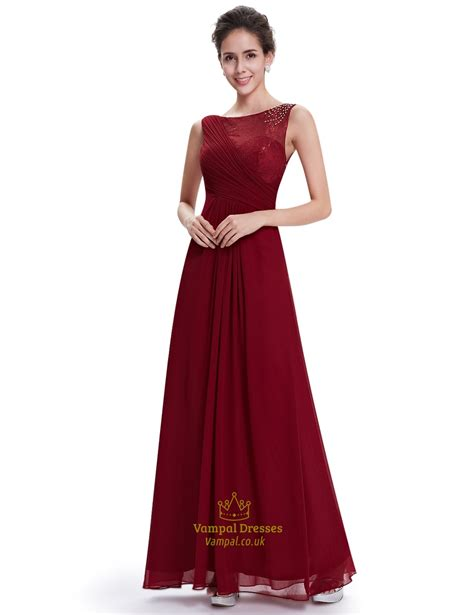 bridesmaid dresses with beaded tops burgundy lace top chiffon bridesmaid dresses with