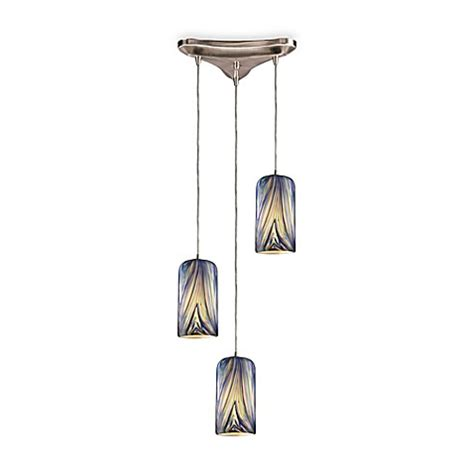 Blown Glass Pendant Light Shades Buy Three Light Vertical Drop Pendant Fixture With Blown Glass Shades From Bed Bath Beyond