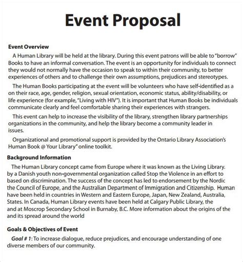 proposal format event management event proposal template 16 download free documents in