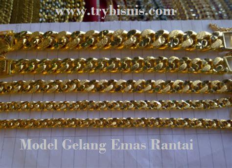 pattern warna emas gambar dunia emas narshifa rantai tangan tulen 916 jenis