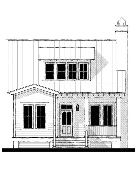 Saluda River Club Cottage A House Plan (15116A) Design