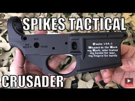 spikes tactical crusader stripped ar 15 lower bible verse