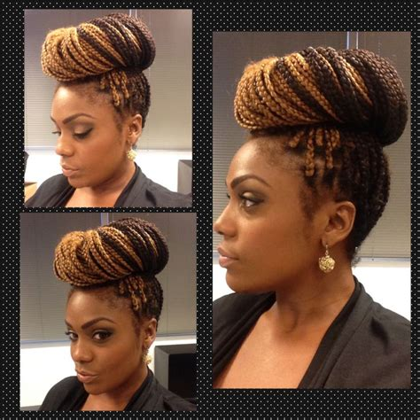 how to do a bun with braid box braids box braids simply high bun natural hair doll