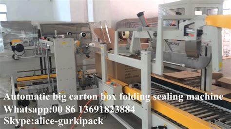automatic bid automatic big box folding sealing machine top