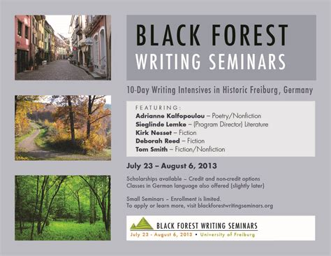 Prevention Of Forest Essay by Black Forest Writing Seminars 171 Allegheny College Meadville Pa