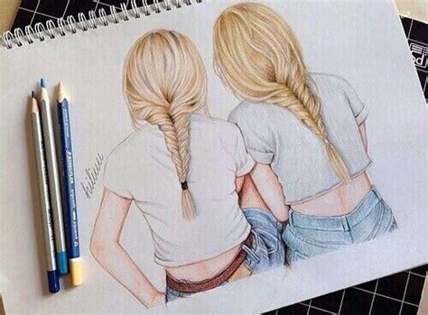 dibujos a lapiz de dos amigas archivos dibujos de amor a im 225 genes de amigas en caricatura para compartir