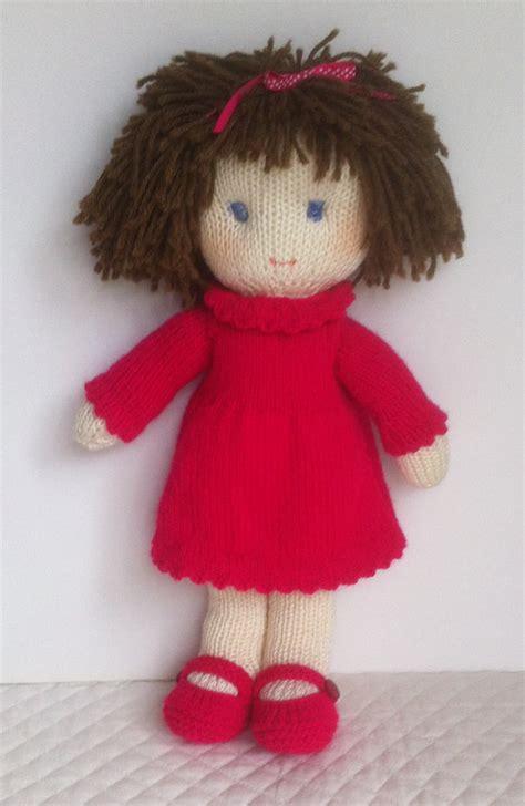 knitting patterns toys free downloads doll knitting pattern pdf instant by jemimahjane