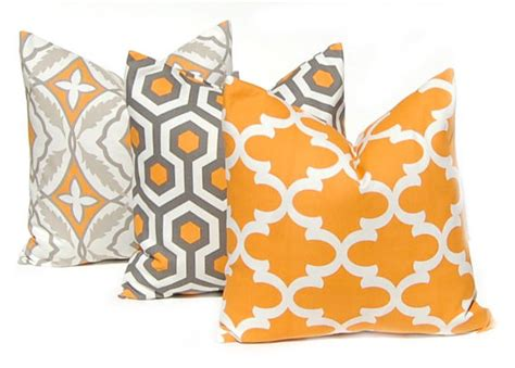 Orange Decorative Pillows For by Fall Decor Orange Pillows Decorative Throw Pillow Covers
