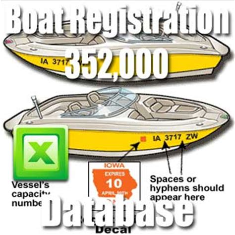 placement of texas boat registration numbers boat registration database directory usa database giants