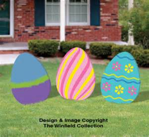 easter color posters giant easter eggs woodcraft pattern set
