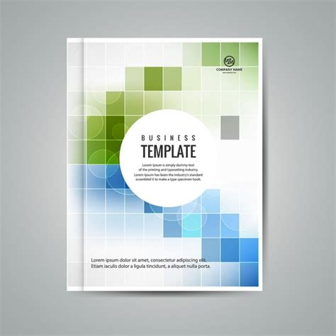 book layout template free download colorful business booklet with squares vector free download
