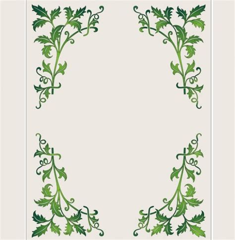 pattern with frame lovely green leaf frame border pattern welovesolo
