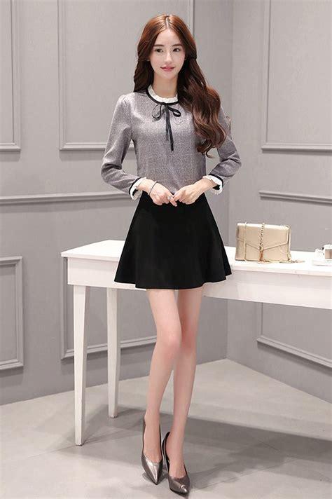 Set Nazla Mini Dress Korea bottoming skirt korean style skirt 2pcs set for