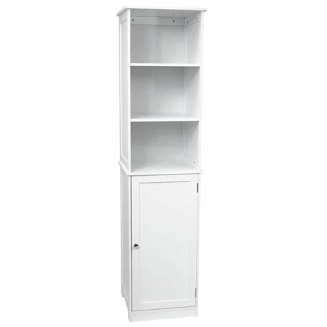 tall white bathroom storage unit priano bathroom tall cabinet shelving cupboard storage