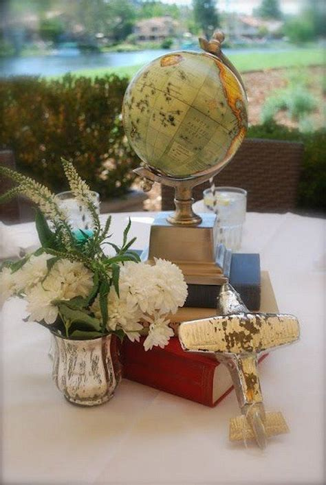 travel themed table decorations 25 best ideas about travel centerpieces on