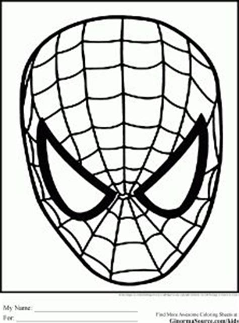 spiderman face coloring page 1000 images about spiderman coloring pages on pinterest