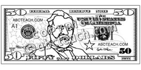 coloring page 5 dollar bill dollar bill printable coloring pages dollar best free
