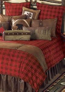gunnison plaid log cabin bedding rustic home decor