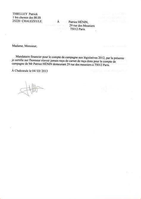 Exemple De Lettre Qui Certifie Sur L Honneur attestation sur l honneur