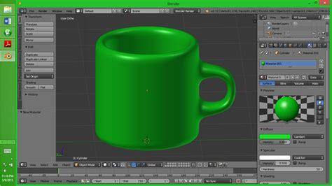cara membuat gambar 3d dengan aplikasi blender cep hendri efendi cara membuat object gelas mug