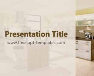 kitchen templates for powerpoint kitchen ppt template free powerpoint templates