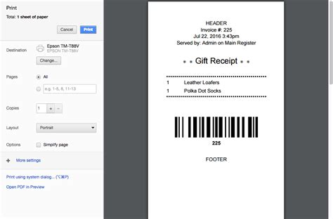 gift in receipt template standard receipt gift receipts in vend for mac and pc