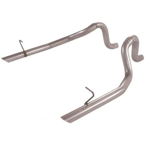 flowmaster mustang 2 5 quot exhaust tailpipes aluminized 87