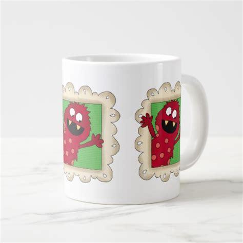 design jumbo mug kids cartoon fun soup mug with handle jumbo mugs zazzle