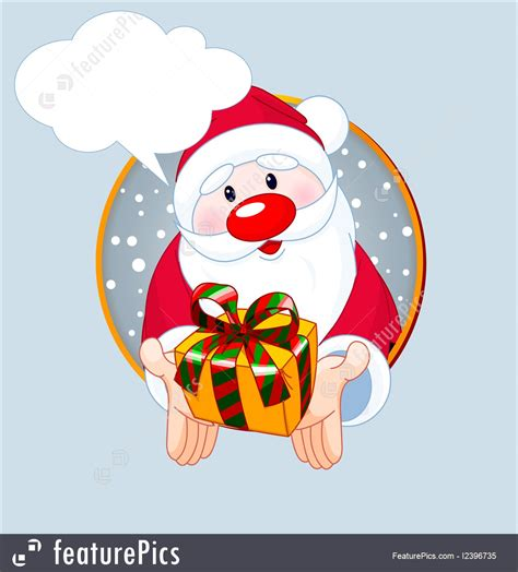 A Gift Card Santa - illustration of santa giving a gift card