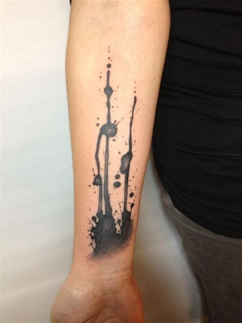 ink blot tattoo splash cool ink pietro romano