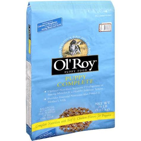 ol roy food ol roy puppy complete nutrition with beef chicken flavors food 20 lb dogs