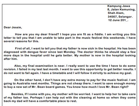 write  informal letter pt englishcom