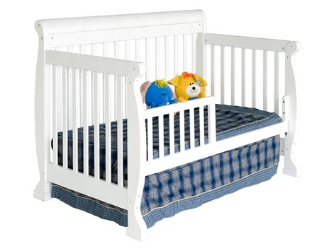 Cribs Convert To Toddler Bed Toddler Bed With Rails 5 On Me Mesh Adjustable Bedrail Kalani 4 In 1 Convertible Baby
