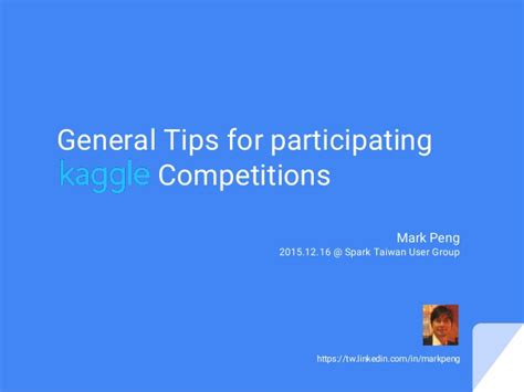 general tips for participating kaggle competitions