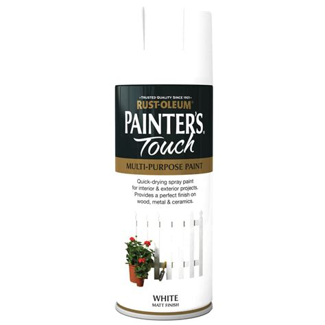 rust oleum painters touch white matt spray paint 400ml ebay