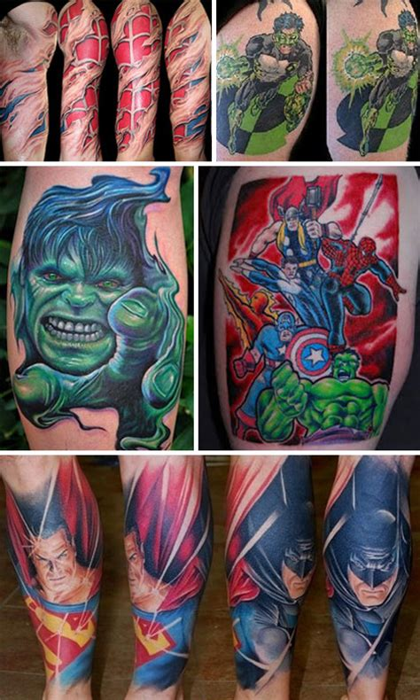 superhero tattoos powerful 34 artworks with power to move you