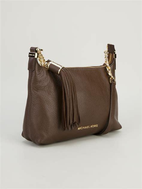Mk Mini Messenger Mocca michael kors weston small messenger bag in brown lyst