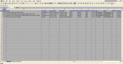 format buku daftar mel software perpustakaan sekolah download gratis