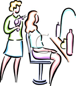 Cosmetology Chair Hair Salon Cartoon Clip Art 34