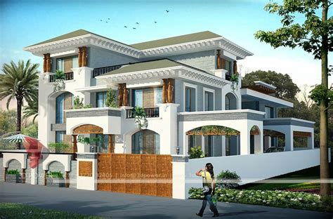 bungalow design bunglow design 3d architectural rendering services 3d