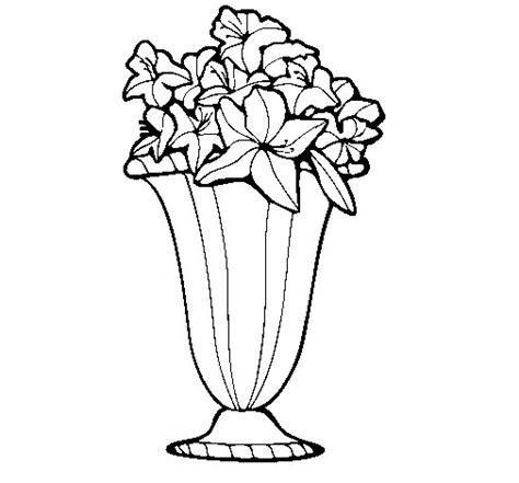 vaso di fiori disegno disegno di vaso di fiori 2a da colorare acolore