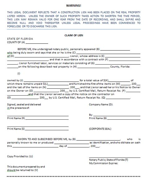 Sample Mechanics Lien Contract how to fill out a lien niesen price worthy campo pa