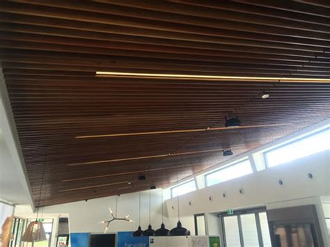 Ceiling Slats by Acoustic Timber Slat Ceiling Decor Systems