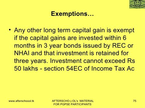 capital gains tax bonds and section 54ec in come tax law of india