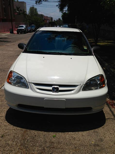 2001 white honda civic lx coupe for sale