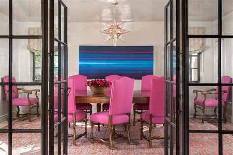 pink dining room chairs pink dining chairs with silver moravian star pendant