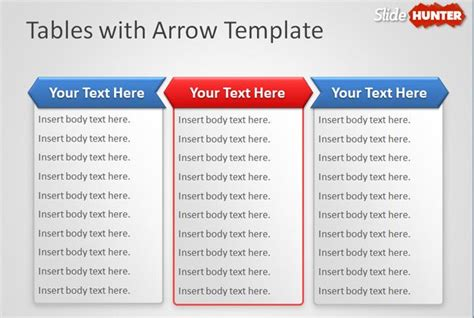 design powerpoint table free tables with arrow powerpoint template free